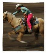 Rodeo Riding A Hurricane 2 Fleece Blanket