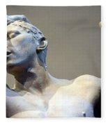 Rodin's The Vanguished Up Close Fleece Blanket