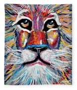 Rodney Abstract Lion Fleece Blanket