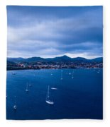 Rodney Bay Morning Blues Fleece Blanket