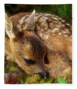 Roe Deer Fawn Fleece Blanket