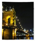Roebling Bridge II Fleece Blanket