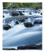 Rogue River Falls 9 Fleece Blanket