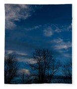 Rogue Valley Winter Eve Fleece Blanket