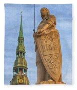 Roland Of Riga Painting Fleece Blanket