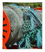 Rolled-up Nets Fleece Blanket