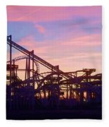 Roller Coaster At The  Nj Shore Fleece Blanket