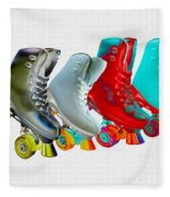 Roller Skates Fleece Blanket