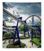 Rollercoaster Amusement Park Ride Fleece Blanket