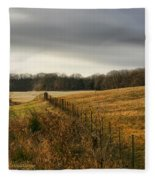 Rolling Field Fleece Blanket