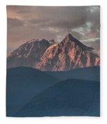 Rolling Hills And Purple Tantalus Peaks Fleece Blanket