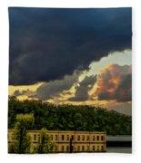 Storm Clouds Rolling In Fleece Blanket