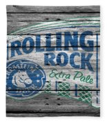 Rolling Rock Fleece Blanket