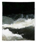 Rolling White Water Fleece Blanket
