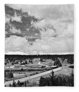 Rollinsville Colorado Small Town 181 In Black And White Fleece Blanket