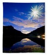 Rollinsville Yacht Club Fireworks Private Show 52 Fleece Blanket