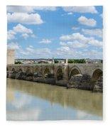 Roman Bridge Of Cordoba Fleece Blanket