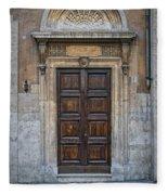 Roman Doors Fleece Blanket