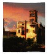 Roman Forum At Sunset Fleece Blanket