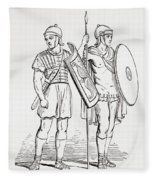 Roman Infantry Soldiers, After Figures On Trajans Column.  From The Imperial Bible Dictionary Fleece Blanket