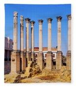 Roman Temple In Cordoba Fleece Blanket