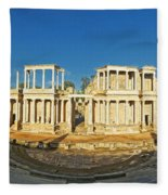 roman theatre in Merida Fleece Blanket