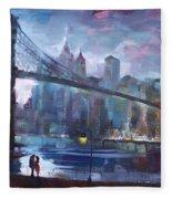 Romance By East River II Fleece Blanket