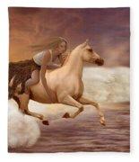 Romance In Her Dream Fleece Blanket