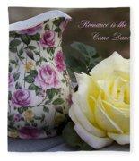 Romance Is The Dance Of Life Fleece Blanket
