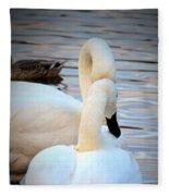 Romance Of The White Swans Fleece Blanket