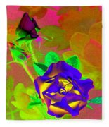 Romancing The Rose Fleece Blanket