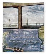Romans 12 21 Fleece Blanket