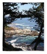 Romantic California Coast Fleece Blanket