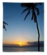 Romantic Maui Sunset Fleece Blanket