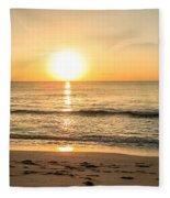 Romantic Ocean Swim At Sunrise Fleece Blanket