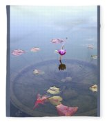 Romantic Pond Fleece Blanket