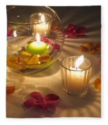 Romantic Setting Fleece Blanket