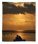 Romantic Sunrise Fleece Blanket
