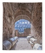 Rome Colosseum Interior 01 Fleece Blanket