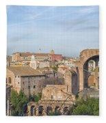 Rome Roman Forum 01 Fleece Blanket