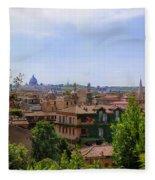 Rome Rooftop Fleece Blanket