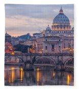 Rome Saint Peters Basilica 01 Fleece Blanket