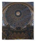 Rome Saint Peters Basilica Interior 01 Fleece Blanket