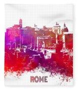 Rome Skyline Fleece Blanket