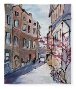 Rome Street Scene IIi Fleece Blanket