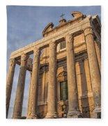 Rome Temple Of Antoninus And Faustina 01 Fleece Blanket