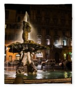 Rome's Fabulous Fountains - Fontana Del Tritone Fleece Blanket