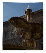 Rome's Fabulous Fountains - Piazza Farnese Fountain Fleece Blanket