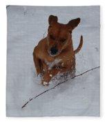 Romp In The Snow Fleece Blanket