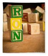 Ron - Alphabet Blocks Fleece Blanket